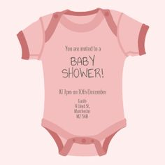 Try now FREE - Baby Shower Invitations - Pink Onesie Baby Girl Baby Shower Invitations Free Baby Shower Invitations, Baby Shower Invites For Girl, Baby Shower Parties, Baby Shower Themes, Shower Ideas, Online Invitations, Baby Online, Babyshower, Onesies
