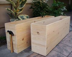 Custom Wood Planters, Large Vegetable Garden Planters, Cedar or Redwood, Give us your size and we will quote