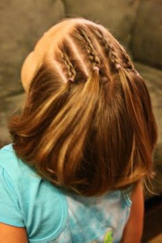 Lots of ideas for little (and big) girls hair. Hmmm maybe I can manage t Girls Hairdos Big Girls Hair Hmmm Ideas lots manage Little Girl Hairdos, Girls Hairdos, Pretty Hairstyles, Braided Hairstyles, Kids Hairstyle, Hairstyles 2016, Natural Hairstyles, Style Hairstyle, School Hairstyles