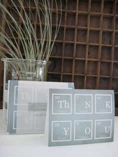 set of 6 // chemistry thank you cards