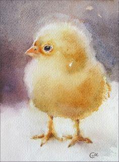 Watercolors by Maria Stezhko (Акварели Марии Стежко): Baby Chick