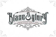 Blaze & Glory Typeface + Extras by Zerowork on @creativemarket