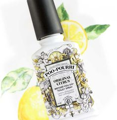 Poopourri To own the throne: Spritz 3-5 sprays into the toilet bowl on the water's surface. Proceed to use the throne as usual. The natural essential oils create a barrier—trapping odor under the surface, before it begins!