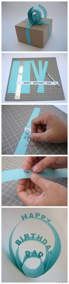Adorable birthday card idea. This can be used in so many different ways, and it doesnt look too difficult!