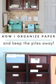 How I Organize Paper and Keep the Piles Away I'm a paper person and a list-maker. I love using a paper planner and notepads, a homekeeping binder, a wall calendar, sending hand-written notes and. Paper Organization, Life Organization, Organizing Tips, Organising, Organizing Papers, Deep Cleaning Tips, Cleaning Hacks, Clean Mama, Glass Cooktop