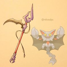 Pokeapon No. 472 - Gliscor. #pokemon #gliscor #scythe #pokeapon