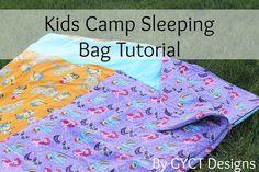 Kids Camp Sleeping Bag Tutorial by GYCT
