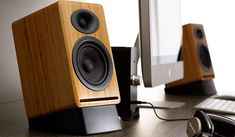 Pro Series Desktop Speaker Stands within proportions 1190 X 740 Best Desk Speaker Stands - Ergonomics simply indicates the study of designing objects, like Desktop Speakers, Small Speakers, Diy Speakers, Speaker Wire, Bookshelf Speakers, Speaker Stands, Speaker System, Homemade Speakers, Speakers