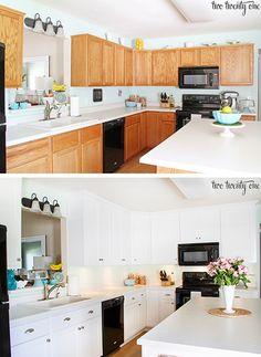 Antes y después de una cocina con una mano de pintura | Decoración