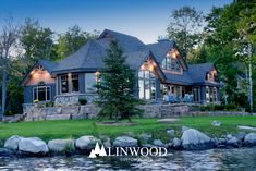 This luxury estate home is perfect for any view property. Made from the highest quality lumber, this home is built to last. Luxury Estate, Luxury Homes, Linwood Homes, Home Design Plans, Kit Homes, Estate Homes, Custom Homes, House Plans, Home And Family
