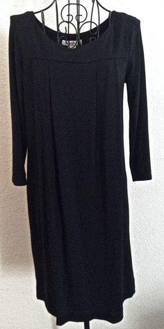 White House Black Market Pleated Tunic Top Dress Black Stretch Size S #WhiteHouseBlackMarket #Tunic