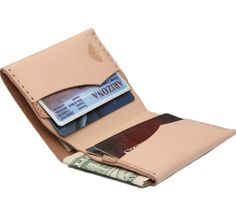 Slim Bi Fold Wallet - Leather - Trend Uncovet