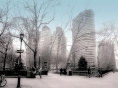 Rittenhouse Square in snow  Philadelphia