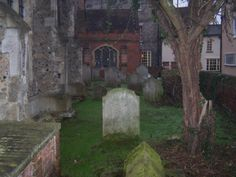 Another view of the grave yard in the back of the church Of All Saints Essex England, All Saints, Night Time, Yard, Architecture, Plants, Arquitetura, Patio, Yards