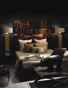 Deep Dark Living Room With Cool Textural Contrast Dark Living