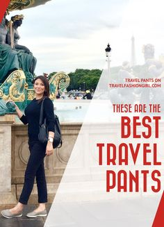 Millions of female travelers agree: THESE are the BEST travel pants for women. They're versatile, lightweight, easy to clean, and above all - stylish! #WhatToPack #TravelGear #PackingTips #PackingList #TravelFashionTips #PackingLight #TravelFashion #TravelFashionGirl