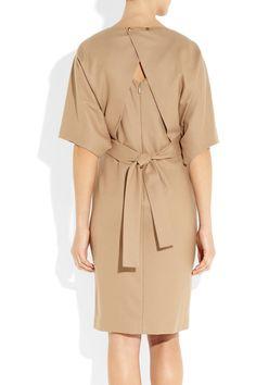 Gucci Belted Woolblend Dress in Beige (camel) | Lyst