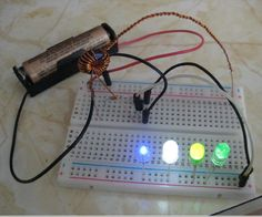 Introduction The Joule Thief is a simple circuit that takes a low voltage source and, through induction, turns it into a higher voltage. Voltage inputs can be as. Must Have Gadgets, Cool Gadgets, Arduino Projects, Electronics Projects, Joule Thief, Hack Internet, Simple Circuit, Electronic Schematics, High Voltage