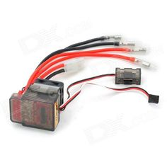 """Brushed Electric Speed Controller w/ Brake Cooling Fan for RC Car Boat - Black. """"Model N/A Quantity 1 Piece(s)/pack Color Black Material Aluminium alloy + ABS Compatible Models Car and boat model with working Voltage : 7.2 - 8.4V Application Vehicles & remote control toys Functions With heat sink and cooling fan for heat dissipation; Support 8T motor; With great UBEC function, provide 5.6 V 3A current, and have switch; UBEC support input voltage: 6~16.8V; Forward current: 600A, back current…"""