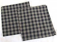 Black Tan Plaid Sturbridge Potholder Set//2 Quilted Cotton Park Designs