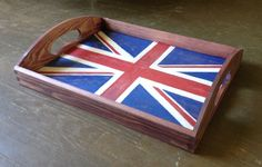 Hand Painted Union Jack Tray - This is what I made my husband for his birthday this year.