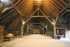 The oldest surviving timber-framed barn in Europe. Coggeshall Grange Barn belonged to Coggeshall Abbey - which was founded in 1147 by King S...