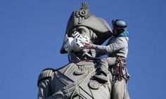 Nelson's Column And Sherlock Holmes Given Air Pollution Masks In Greenpeace Stunt