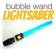 Easy lightsaber craft idea! Perfect for a star wars party !