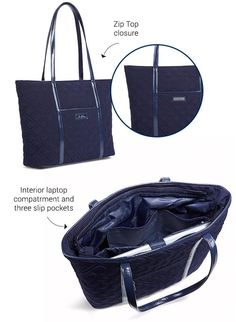 The Trimmed Vera Laptop Tote is stylish and functional. Perfect for the hallways of your high school!