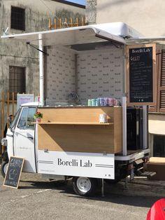 Food Truck Interior, Trailer Interior, Food Cart Design, Food Truck Design, Ice Cream Stand, Make Ice Cream, Coffee Carts, Coffee Truck, Korean Street Food