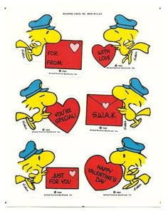 Woodstock Delivering Various Valentines