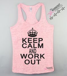 Funny Workout Tank Keep Calm and Work Out by TheWorkoutPrincess