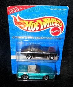 Mattel Hot Wheels 1995 Father & Son Collector Pack Corvettes Exclusively Avon #Mattel #Chevrolet