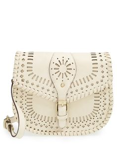 kianna perforated faux leather crossbody bag