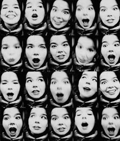 Bjork. I used to have this on my wall! It was in colour. From The Sunday Times? i-D?