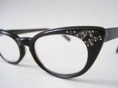 Mid Century 1950s Cat Eye Glasses Comet Design with by rhanvintage, $105.00