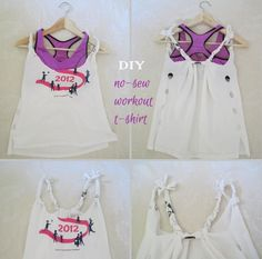 I haven& purchased a workout t-shirt in a while. I have many t-shirts and I just upcycle them to beachwear and fitness wear. Here is a workout t-shirt I did using a pair of scissors.and no sewing needed. Materials t-shirt scissors Diy Clothes Kimono, Diy Clothes Tops, Diy Clothes Hacks, Diy Clothes And Shoes, Diy Summer Clothes, Diy Clothes Videos, T-shirt Refashion, Diy Clothes Refashion, Diy Clothing