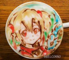 Silica Sao coffee art