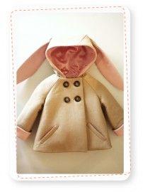 Kinderjas Konijn - Bunny Coat | Producten kinderjassen | Coaters; meer dan een jas; kinderjassen in de vorm van een dier