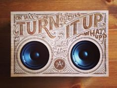 Discover more of the best Typography, Wooden, Boombox, and Type inspiration on Designspiration Creative Typography, Typography Letters, Graphic Design Typography, Lettering Design, Typographie Inspiration, Laser Art, Speaker Design, Boombox, Pyrography