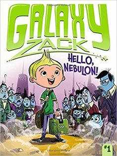 In Hello, Nebulon!, Zack makes the big move from Earth. He is already nervous about starting school and making new friends, but it only gets worse when he dreams that his classmates are slimy aliens with tentacles, pizza comes covered in gross bugs, and he can never communicate with his Earth friends again! Fortunately, when Zack arrives at Sprockets Academy for his first day of school, he meets and befriends Drake Tucker, a Nebulite boy who also loves to explore and learn about the planets…