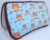 Owl Diaper Wipe Case - Baby Wipe Case - Blue Owl Baby Wipe Case - Owl Baby GIrl Wipe Case - Baby Shower Gift