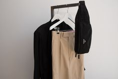 The Junya Watanabe wide crop khaki trouser is a far cry from the ubiquitous yoga pants or leggings you may tire of seeing out and about.