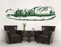 Vancouver Skyline Decal, Get this wonderful wall tattoo Vancouver Skyline in one of thirty beautiful colors.
