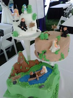 North Idaho Wedding (faux cake)