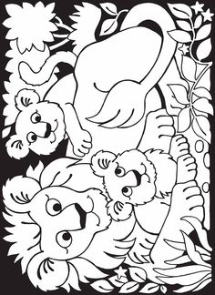 Welcome to Dover Publications / Zoo Animals Stained Glass Coloring Book / Maggie Swanson Cute Coloring Pages, Colouring Pics, Animal Coloring Pages, Printable Coloring Pages, Adult Coloring Pages, Coloring Pages For Kids, Coloring Sheets, Coloring Books, Kids Coloring