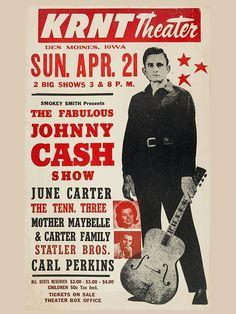 Johnny Cash Foto-Nachdruck eines Konzertposters 40x30cm: Amazon.de: Küche & Haushalt
