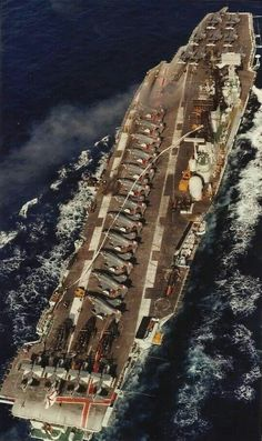 HMS Ark Royal carrying Phantoms, Gannets, Wessex, and Buccaneers aboard Hms Ark Royal, Royal Navy Aircraft Carriers, Navy Carriers, British Aircraft Carrier, Naval History, Navy Military, Navy Ships, Battleship, Military Aircraft