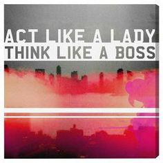 Act Like A Lady Canvas Print