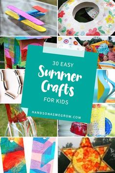 What kind of crafts do you think of as must-make summer crafts for kids? How about summer crafts for preschoolers? Here's 30 easy nostalgic classic craft! Summer Crafts For Toddlers, Summer Activities For Kids, Crafts For Teens, Craft Activities, Preschool Crafts, Crafts To Sell, Toddler Preschool, Toddler Crafts, Toddler Activities